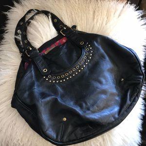Marc Jacobs large leather shoulder bag black